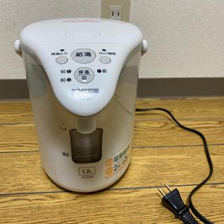 ゾウジルシ(象印)の象印 1.2L 電気ポット 電動  CD-ZA12 コーヒーカップ2杯約3分(電気ポット)