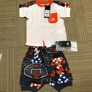 アディダス(adidas)のベビー 半袖、半ズボン上下セット adidas(Tシャツ)