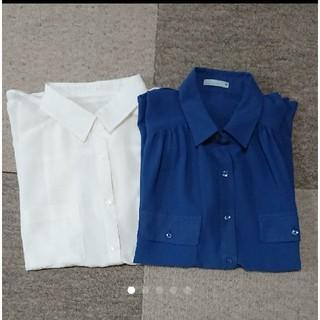 ジーユー(GU)のGU シースルーブラウス 2枚セット(シャツ/ブラウス(半袖/袖なし))