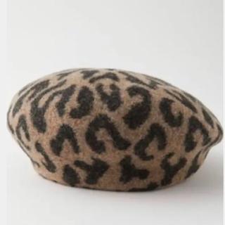 マウジー(moussy)のmoussyヒョウ柄ベレー帽(ハンチング/ベレー帽)