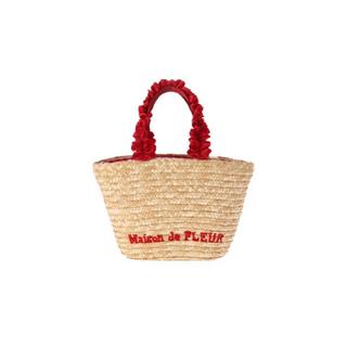 メゾンドフルール(Maison de FLEUR)のメゾンドフルール かごバッグ チェック(かごバッグ/ストローバッグ)