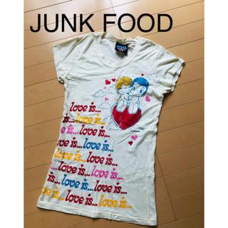 ジャンクフード(JUNK FOOD)のJUNK FOOD ジャンクフード S ラージ 半袖 Tシャツ 白 ホワイト(Tシャツ(半袖/袖なし))
