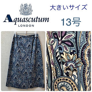 アクアスキュータム(AQUA SCUTUM)の☆アクアスキュータム☆大きいサイズ/13号 ペイズリー柄ロング・ミモレ丈スカート(ロングスカート)