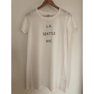 グレイル(GRL)の【SALE】新品!GRL ロングロゴTシャツ(Tシャツ(半袖/袖なし))
