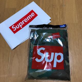 シュプリーム(Supreme)の20 supreme hanes thermal crew L(Tシャツ/カットソー(七分/長袖))