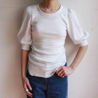 オオシマレイ(OSHIMA REI)のOSHIMA REI パフスリーブカットソー(Tシャツ(半袖/袖なし))