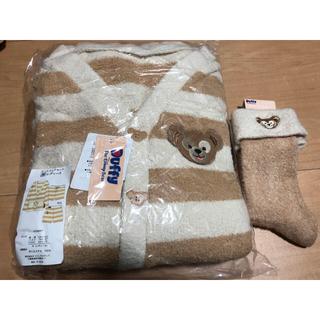 ダッフィー(ダッフィー)のダッフィー モコモコ ボア ルームウェア ルームソックス 靴下 新品(ルームウェア)