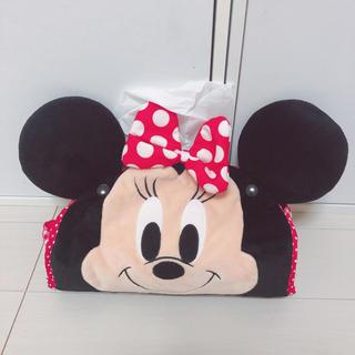 ディズニー(Disney)の美品*ミニーちゃん テッシュケース ティッシュカバー(ティッシュボックス)