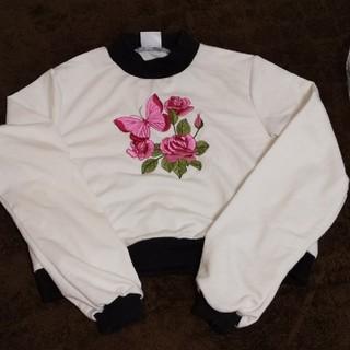 エーディージー(A.D.G)のA.D.G. オリジナル 薔薇 Tシャツ トレーナー(Tシャツ/カットソー(七分/長袖))