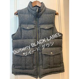 バーバリーブラックレーベル(BURBERRY BLACK LABEL)の☆バーバリー ブラックレーベル ツイード ダウン リバーシブル L タータン(ダウンベスト)