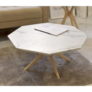 再入荷!!【送料無料】Marble Center Table 75 / WH(ローテーブル)