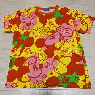 ディズニー(Disney)の【ディズニー】 良品 ミッキーマウス Tシャツ マルチカラー Mサイズ(キャラクターグッズ)