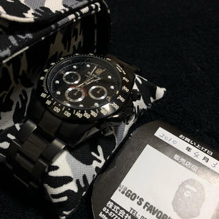 アベイシングエイプ(A BATHING APE)のBAPEXベイペックス デイトナタイプ(腕時計(アナログ))