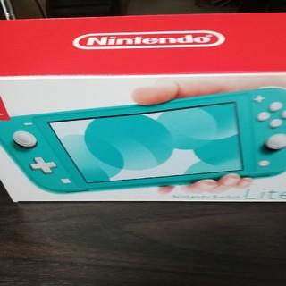 ニンテンドースイッチ(Nintendo Switch)のNintendo Switch  Lite ターコイズ 送料着払い(家庭用ゲーム機本体)