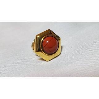 エステーデュポン(S.T. Dupont)の正規 デュポン コンポジットストーンタイタニック 赤×金 カボションクラッシュ(ネクタイピン)