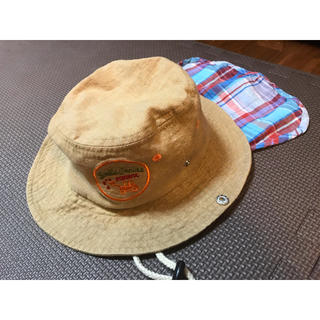 サンカンシオン(3can4on)の3カン4オン 帽子 日よけつき 50cm(帽子)