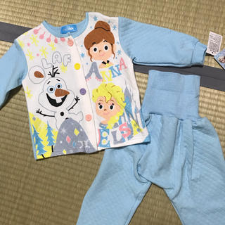 ディズニー(Disney)の新品 キルトパジャマ アナと雪の女王 アナ雪 ディズニー オラフ エルサ 80(パジャマ)