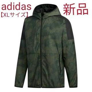 アディダス(adidas)のadidas サイズ【XL】 グラフィック ウインドフルジップパーカー 裏起毛(マウンテンパーカー)