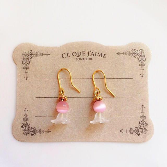 ピンク妖精ピアス レディースのアクセサリー(ピアス)の商品写真