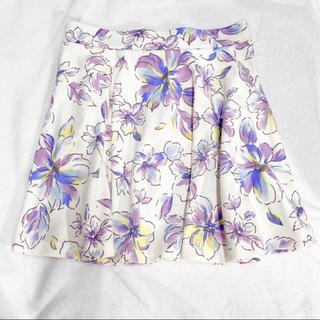 グレイル(GRL)の花柄 フレアスカート②❁¨̮(ひざ丈スカート)