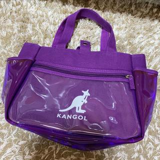 カンゴール(KANGOL)の新品 カンゴール ハンドバッグ ミニ トートバッグ レディース 紫 透明(ハンドバッグ)