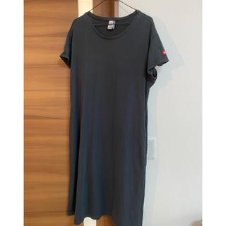 チャムス(CHUMS)のchums ボートロゴ tシャツ ワンピース(ひざ丈ワンピース)