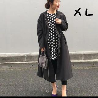 ジーユー(GU)のGU ドローストリングフーデッドコート キレイめ XL(スプリングコート)