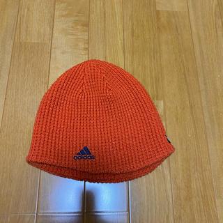アディダス(adidas)のニット帽 アディダス adidas オレンジ(ニット帽/ビーニー)