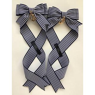 アマベル(Amavel)のLotus ribbon ネイビー(バレッタ/ヘアクリップ)