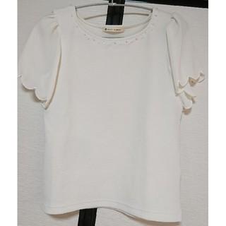 マジェスティックレゴン(MAJESTIC LEGON)のマジェビジューシフォントップス(Tシャツ(半袖/袖なし))