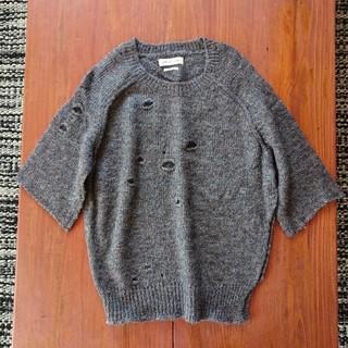 イザベルマラン(Isabel Marant)のイザベルマラン エトワール 五分袖 ダメージ加工 ニット セーター 38サイズ(ニット/セーター)