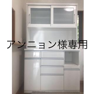 ニトリ(ニトリ)の●最終値下げ●‼︎ニトリ食器棚 (キッチンボード クリスナ120 白)(キッチン収納)
