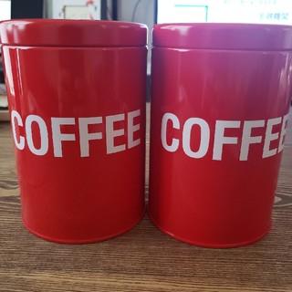 カルディ(KALDI)のGEORGE'S コーヒーキャニスター缶ペア(容器)