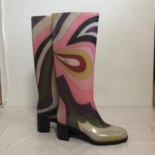 エミリオプッチ(EMILIO PUCCI)のEMILIOPUCCI   エミリオプッチ  レインブーツ  35(レインブーツ/長靴)