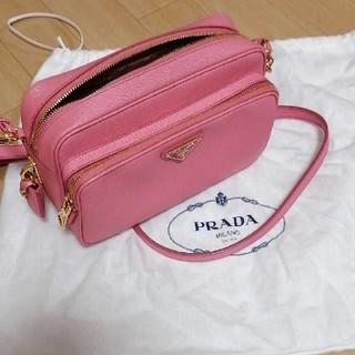 プラダ(PRADA)のお値下げ!極美品プラダ サフィアーノ ショルダーバッグ ピンク(ショルダーバッグ)