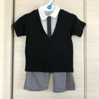 ニシマツヤ(西松屋)の西松屋 男の子 スーツ風 フォーマル 80(セレモニードレス/スーツ)