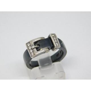 プエルタデルソル(PUERTA DEL SOL)の11号 美品 プエルタデルソル ベルト バックル リング ダイヤ(リング(指輪))
