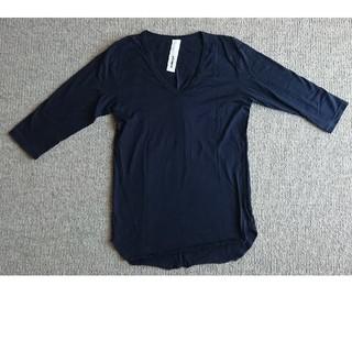 アタッチメント(ATTACHIMENT)のATTACHMENT アタッチメント 七分丈カットソー 黒(Tシャツ/カットソー(七分/長袖))