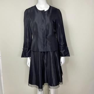 M'S GRACY - 【未使用】エムズグレイシー セットアップ ジャケット/スカート 40 黒