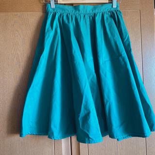 ハレ(HARE)のHARE グリーンスカート フリーサイズ(ひざ丈スカート)