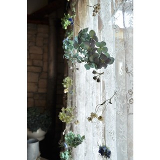 初夏に向けてアンティーク紫陽花の涼しげなmobile。ドライフラワーガーランド。(ドライフラワー)