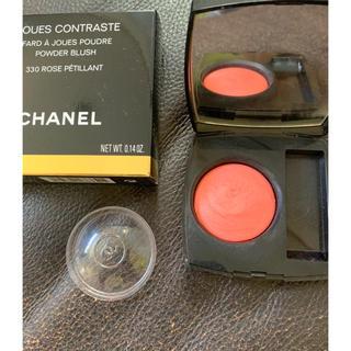 シャネル(CHANEL)のCHANEL 69 Rose petillant 美品 5回のみ使用 チーク(チーク)