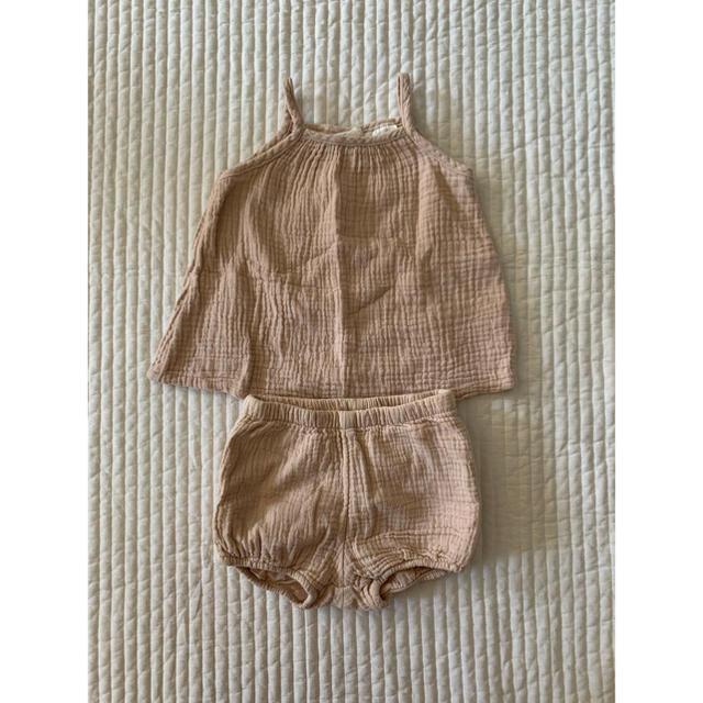 H&M(エイチアンドエム)のH&M✿ガーゼ生地セットアップ キッズ/ベビー/マタニティのベビー服(~85cm)(その他)の商品写真