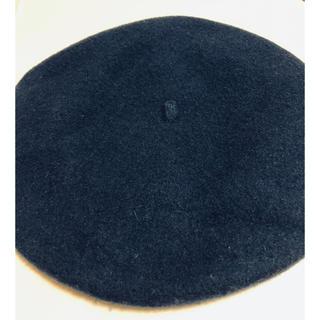 WEGO - WEGO 濃いめブルー ベレー帽