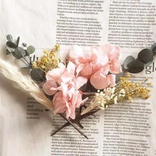 ドライフラワー ヘッドパーツ 髪飾り ヘアアクセサリー 成人式 和装 ピンク(ドライフラワー)
