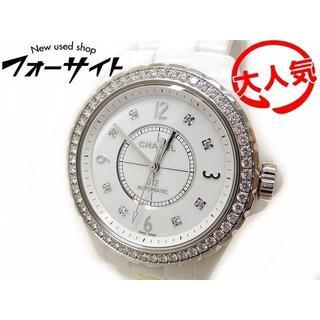 シャネル(CHANEL)のシャネル☆H3111 J12 ホワイト セラミック 純正ベゼルダイヤ (腕時計(アナログ))