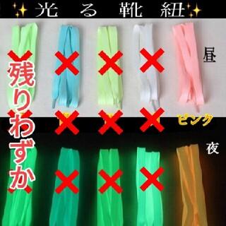 (296) 新感覚!光る☆靴紐 左右2本セット 長い 男女兼用 大人 子供(スニーカー)