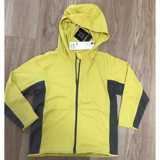 ジーユー(GU)の新品未使用☆GU  KIDS(男女兼用)UVカットフルジップパーカ 長袖(ジャケット/上着)