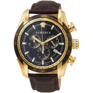 ヴェルサーチ(VERSACE)のVersace ヴェルサーチ 腕時計 正規品 メンズ レア ブラック 黒 金色(腕時計(アナログ))