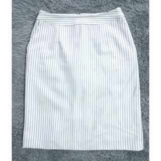 アルファキュービック(ALPHA CUBIC)のボーダースカート タイトスカート(ひざ丈スカート)
